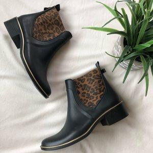 Kate Spade Sedgwick Leopard Chelsea Rain Boots